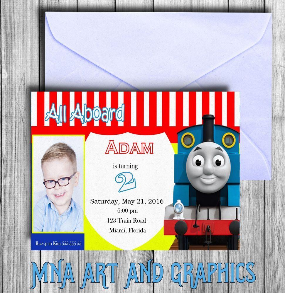 Thomas the tank engine BIRTHDAY PARTY INVITATION - Thomas the train ...