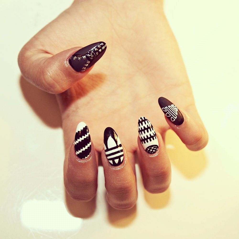hipster pointy nails - photo #21