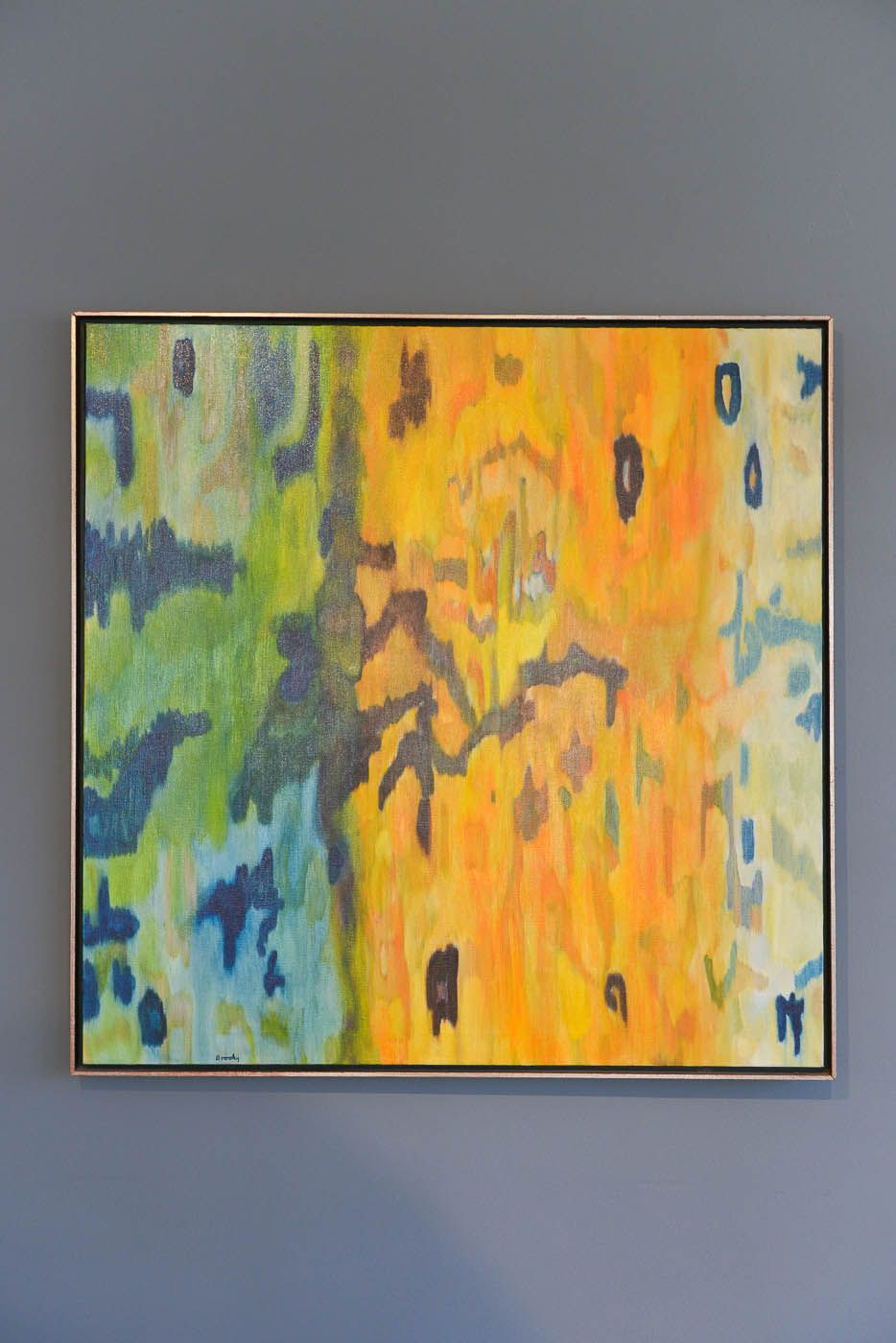 Original Vintage Oil on Canvas Abstract by artist Brooky Zajac ...