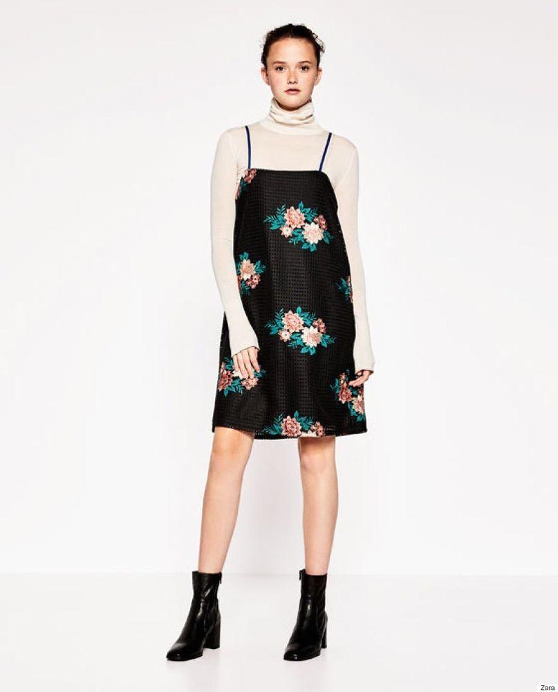 France Zara Blue Floral Dress Ebay 9eac1 24c41