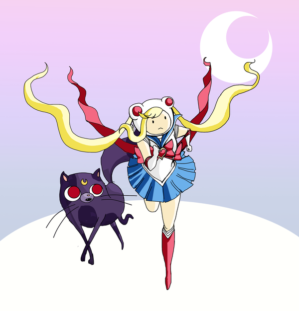 adventure time + sailor moon