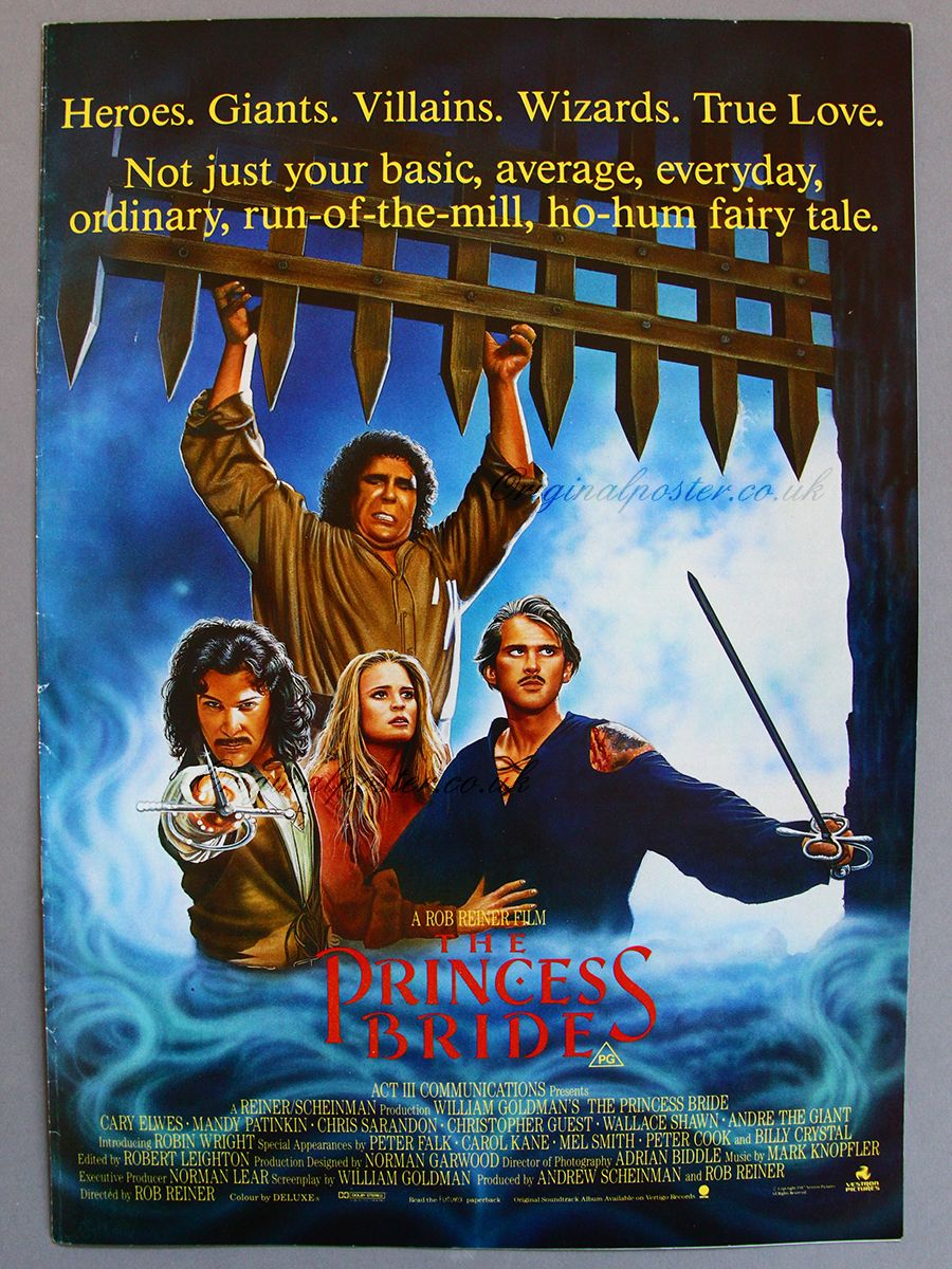 the princess bride memorabilia movies 1986 89 movie posters rh pinterest com