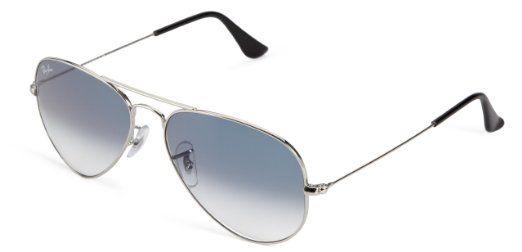 Ray Ban 3025 003 3f Silver 3025 Aviator 58mm Blue Polarized Lenses Silver Frame Oculos Ray Ban Ray Ban Look