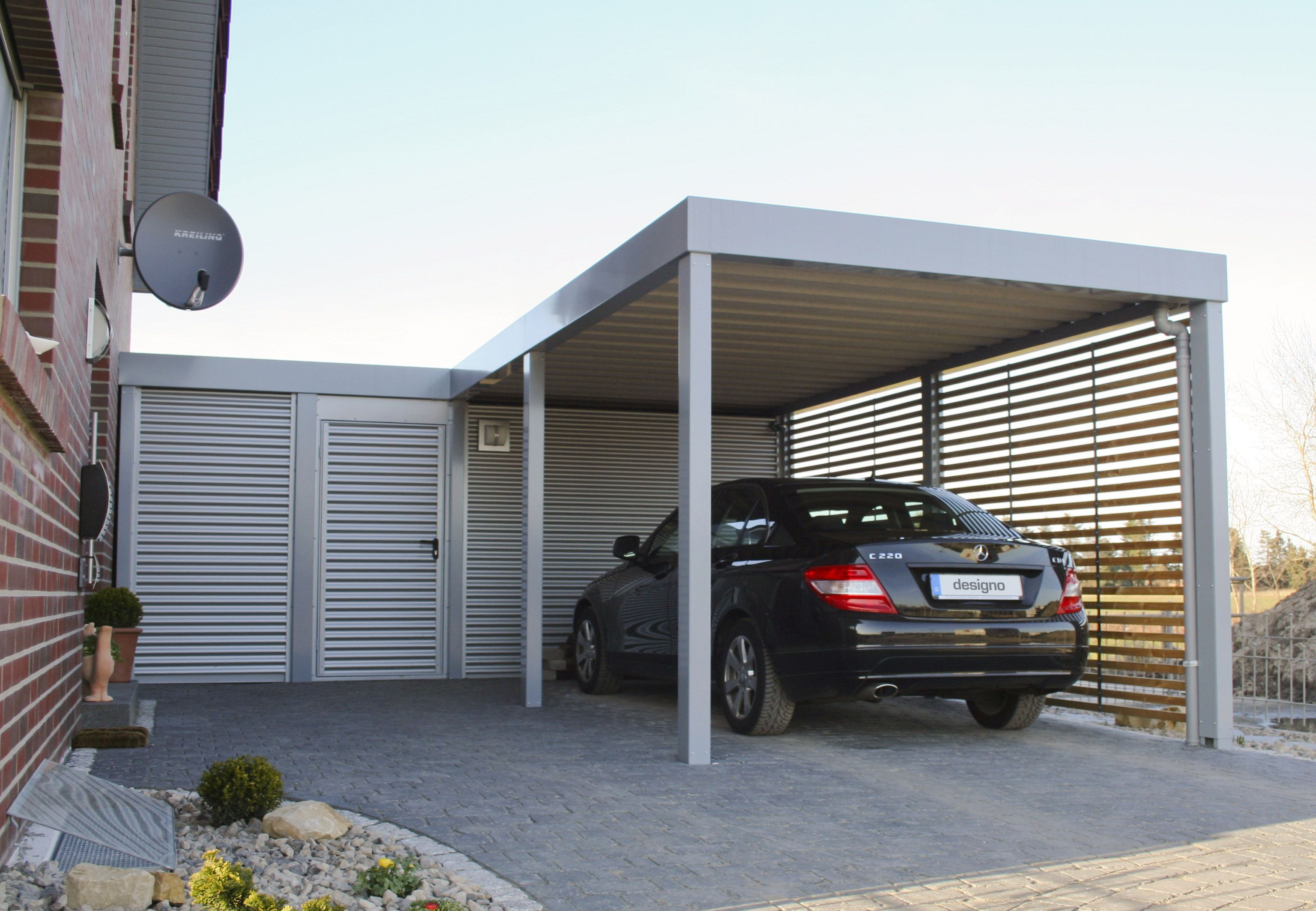 Carport bauen selbst bauen garten wohnen moderne häuser sichtschutz tipps architektur hof ideen
