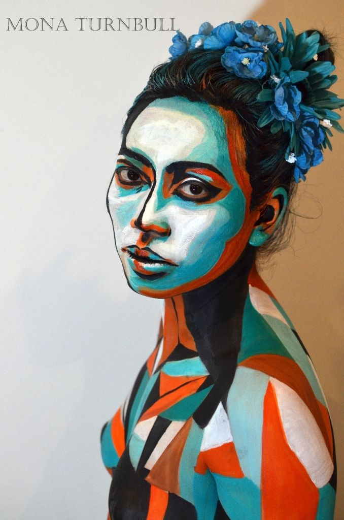 The Beautiful Cubism Picasso Inspired Body Painting Pop Art Girl Pop Art Inspired Body Painting By Mona Turnbull Fro Body Painting Pop Art Girl Pop Art