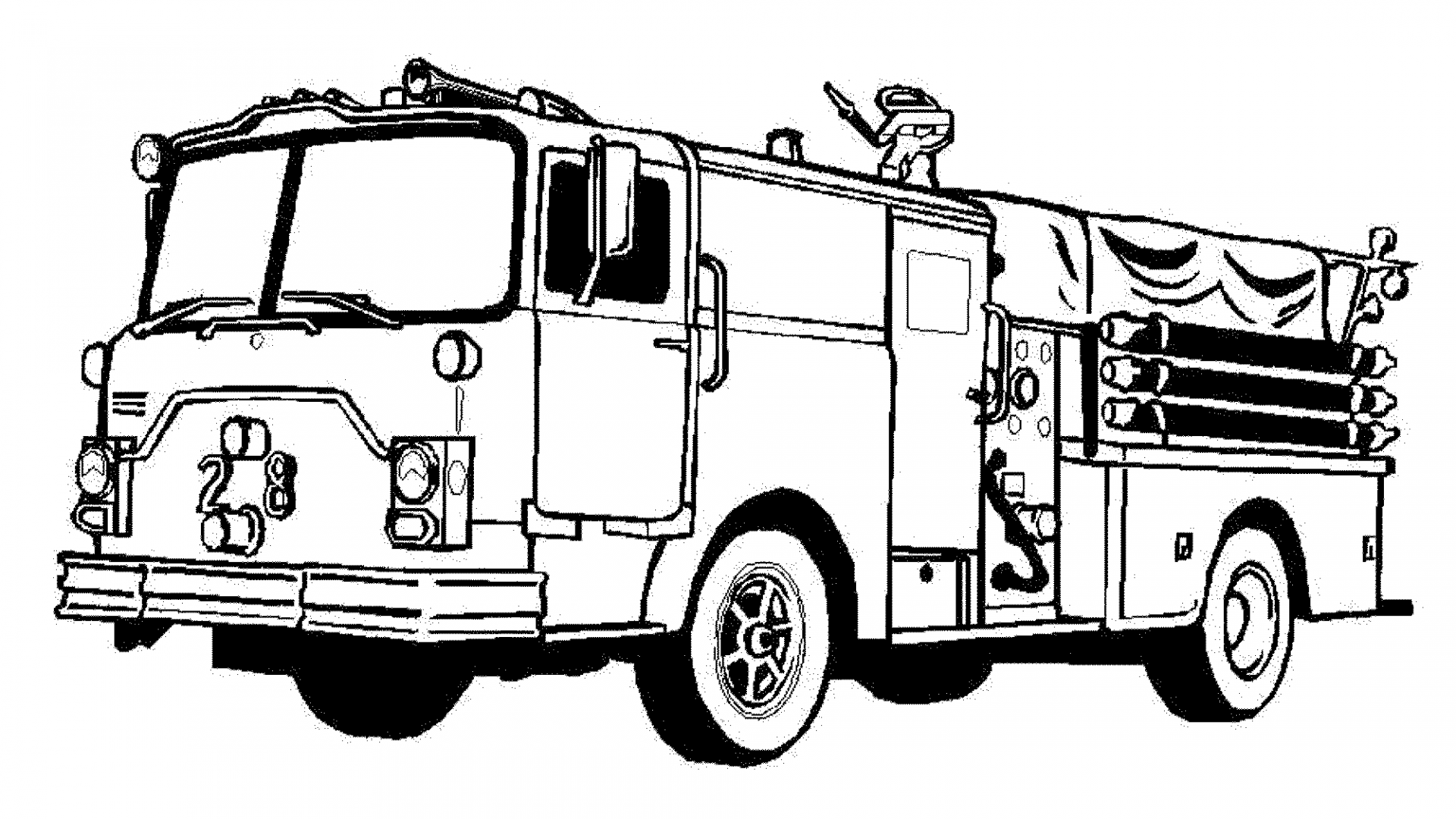 fire truck coloring page | Coloring Board | Pinterest | Fire trucks ...