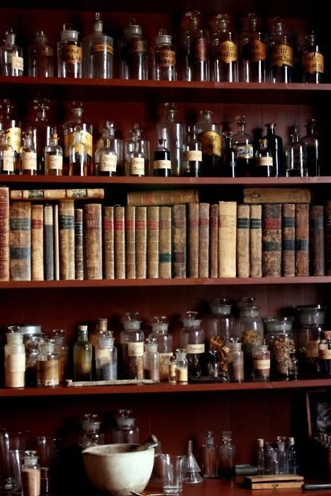 Herbal library / A Witch's Cottage on imgfave #witchcottage