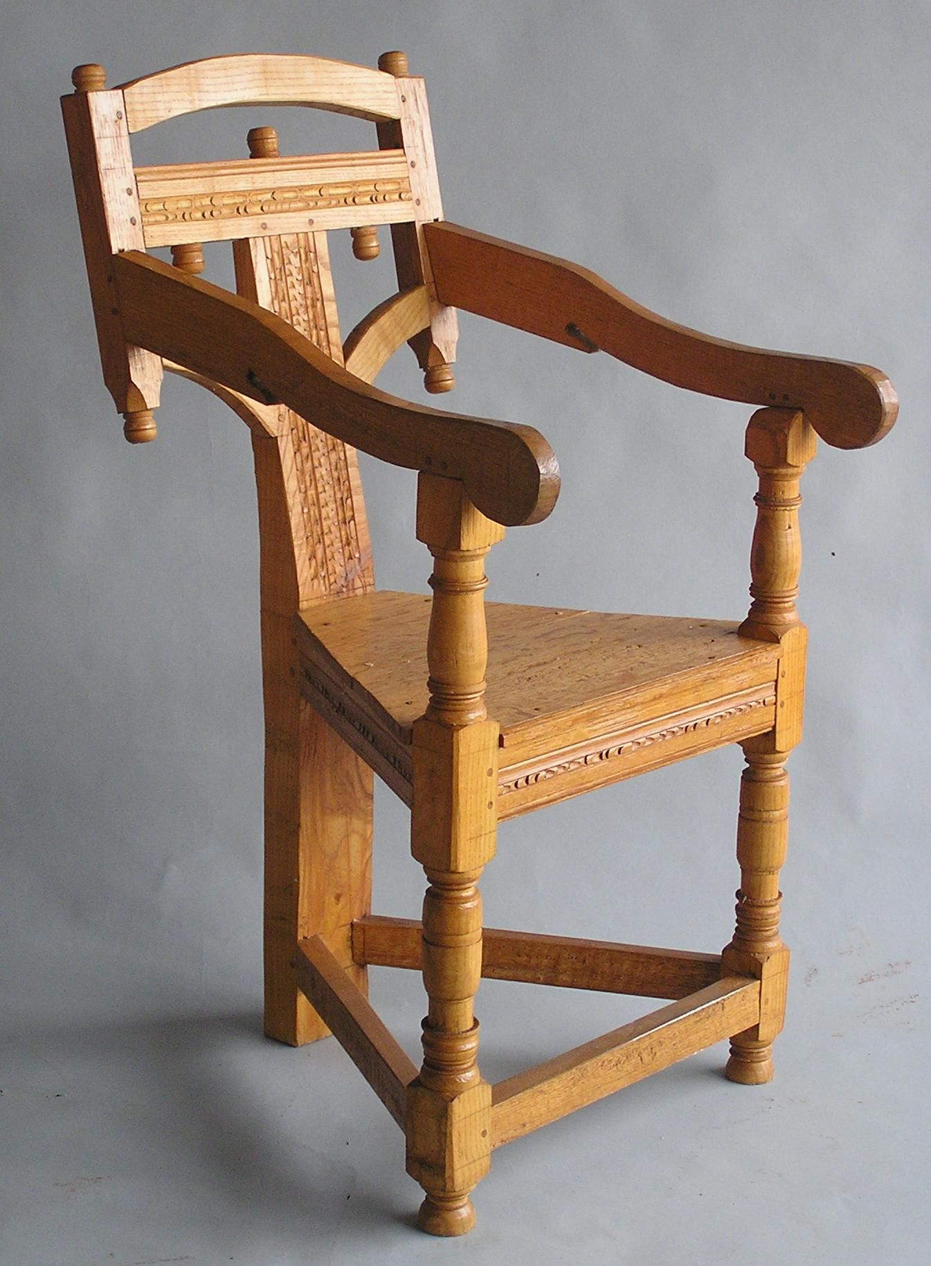 This Wainscot Chair Is An Interesting Twist To A Chair Considered A Of  Honor Back In Colonial America. This Wainscot Has Simple Turnings And  Carvings.