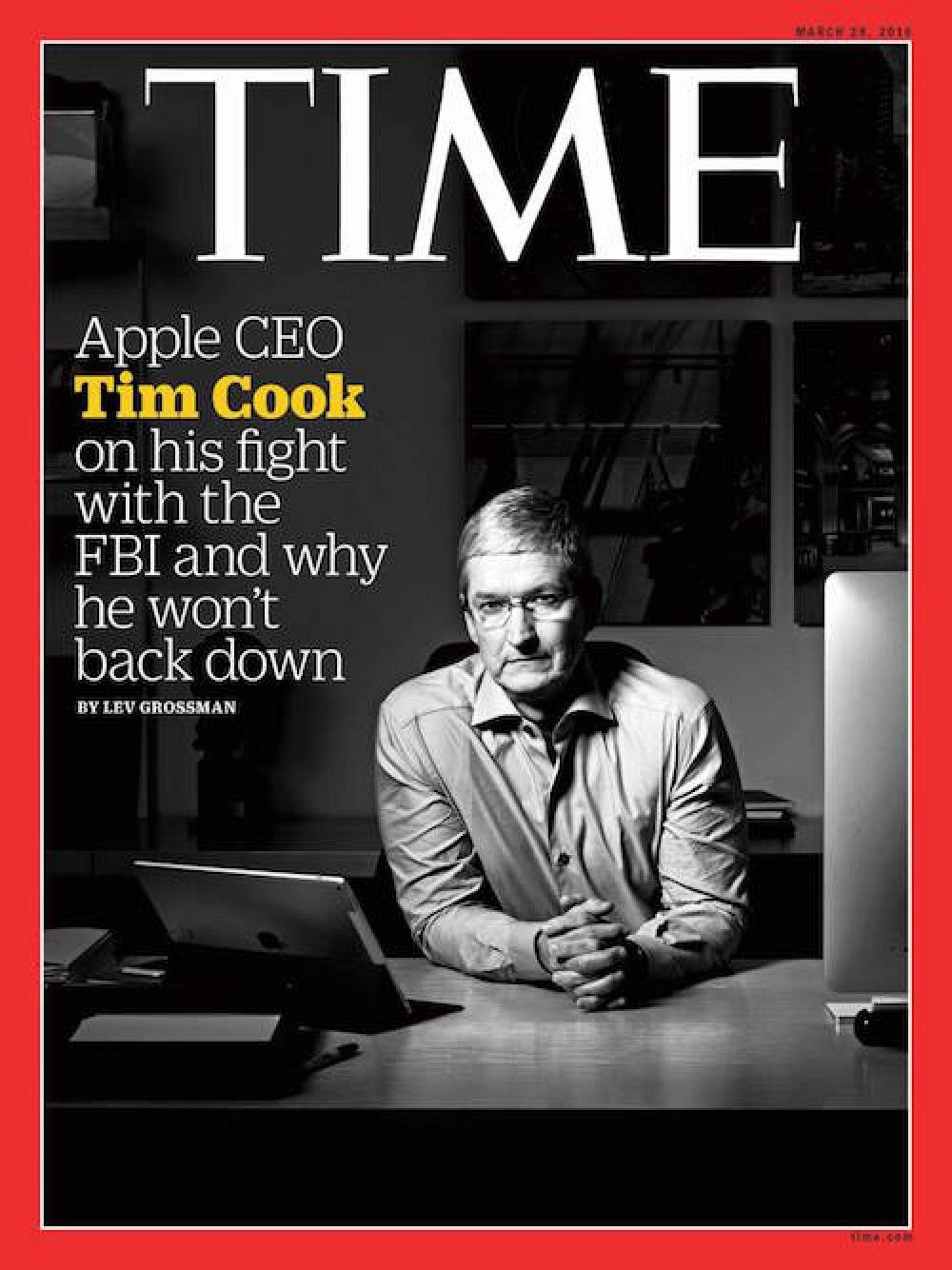 Tim Cook Featured on Cover of TIME Magazine in New Apple-FBI Interview - Mac Rumors