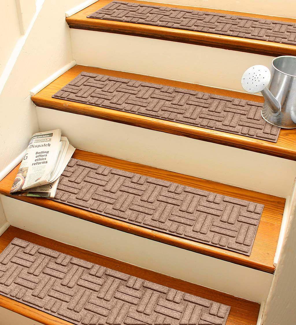 Best Waterhog Basket Weave Stair Treads Set Of 4 Waterhog Doormats Waterhog Basket Weave Stair 400 x 300