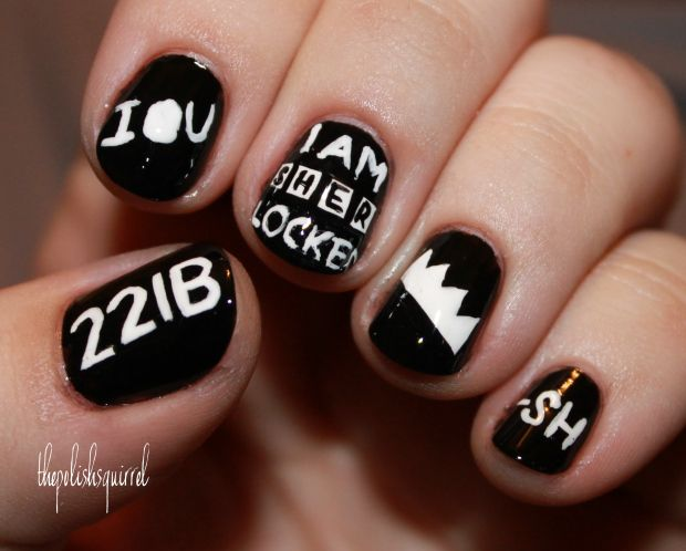 Sherlock nails | Cute Nails | Pinterest