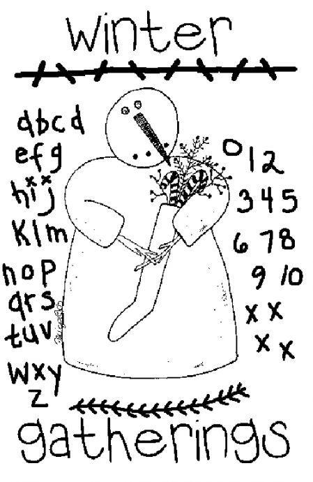 Free Winter Snowmen pattern | Bordado navidad | Pinterest | Bordado ...