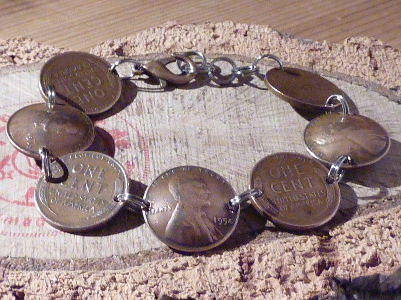 Armbänder - Armband aus 1- USA-Cent. Bronze - ein Designerstück von schmuck-checker bei DaWanda