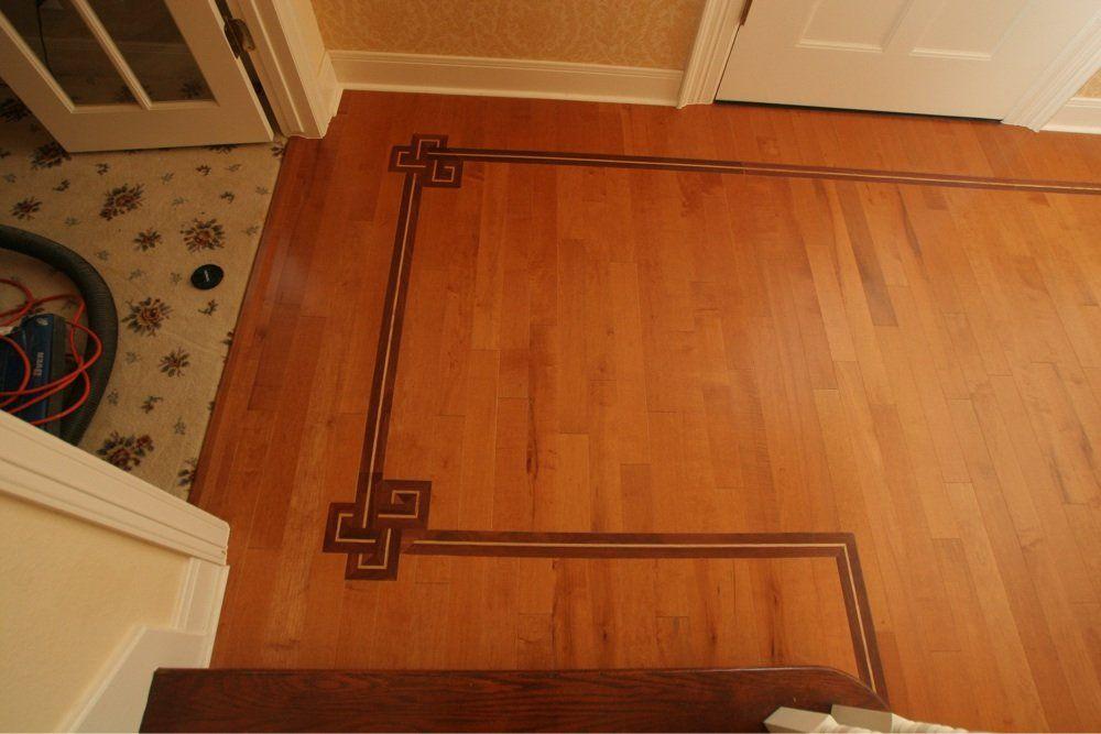 Walnut Inlays Into Cinnamon Maple Hardwood Floor Yelp With
