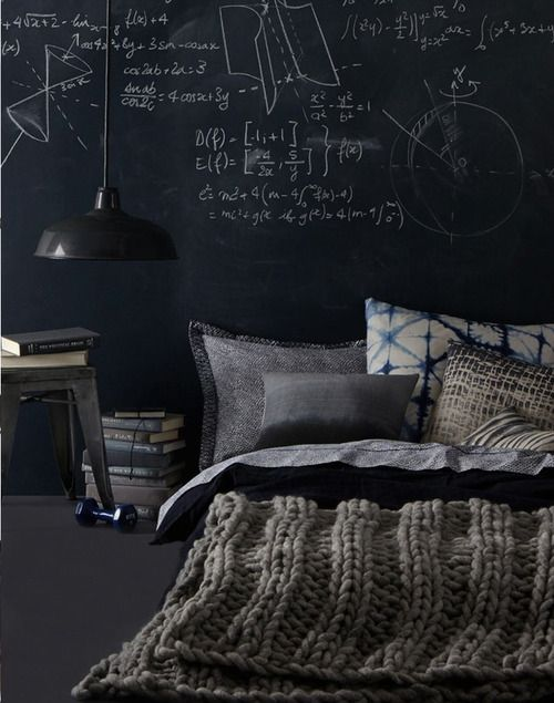 Pin By Anthropologie On Bedroom Inspiration Home Decor Bedroom Chalkboard Bedroom Masculine Interior Design