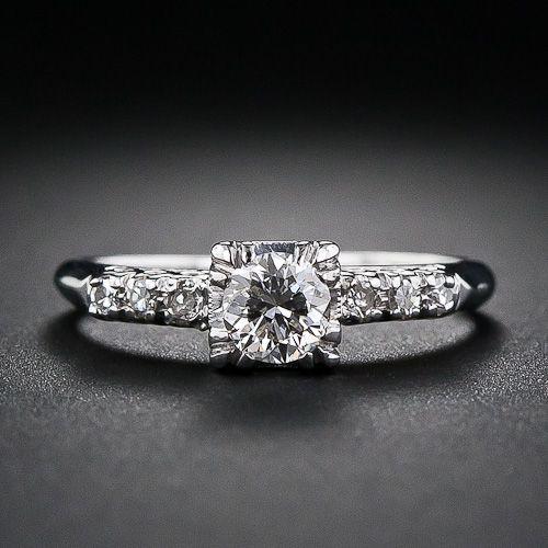 35 Carat Diamond Engagement Ring Circa 1950 S Diamond Engagement Rings Oval Diamond Engagement Ring Diamond Engagement Rings Vintage