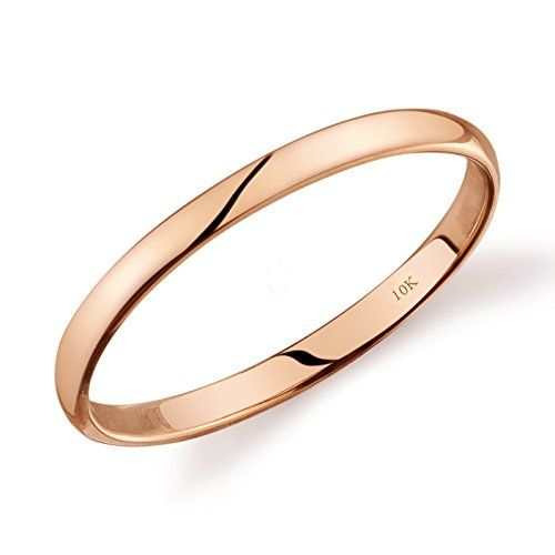 10k Rose Gold Light Comfort Fit 2mm Wedding Band Size 7 5 Https Www Amazon Com Dp B06xfr521h Ref Cm Sw R Pi Plain Wedding Band Rose Gold Rose Gold Lights
