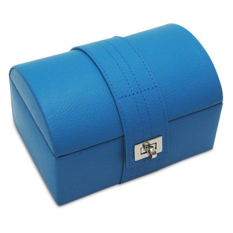 Morelle Co Abigail Small Dome Leather Jewelry Box C2999BLACK