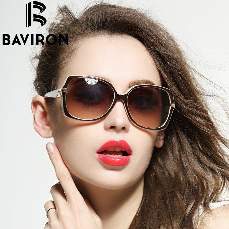 ecda4b1e1dc05e BAVIRON Gorgeous Oversized Sunglasses Women Plastic Casual Outfits Glasses  Feminino Look Stylish UV400 Colorful Eyewear 88271