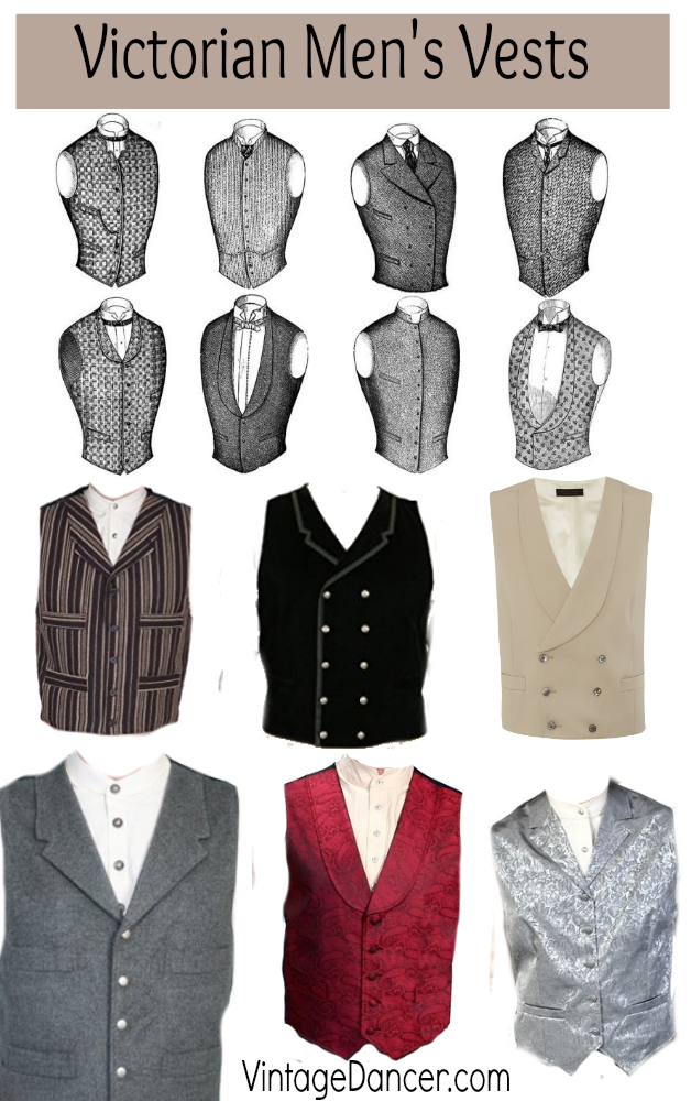 Victorian mens vests and waistcoats. All styles, all budgets. Shop at  VintageDancer.com/Victorian | Victorian mens fashion, Victorian fashion,  Victorian clothing