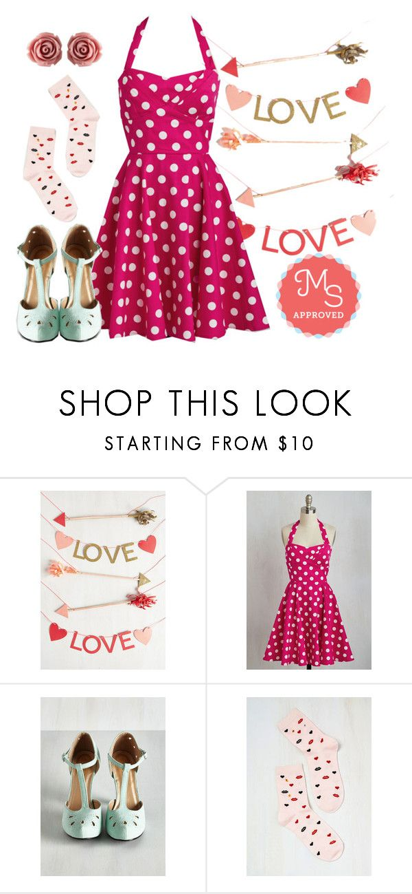 """""""Traveling Cake Pop Truck Dress"""" by modcloth ❤ liked on Polyvore featuring women's clothing, women's fashion, women, female, woman, misses and juniors"""