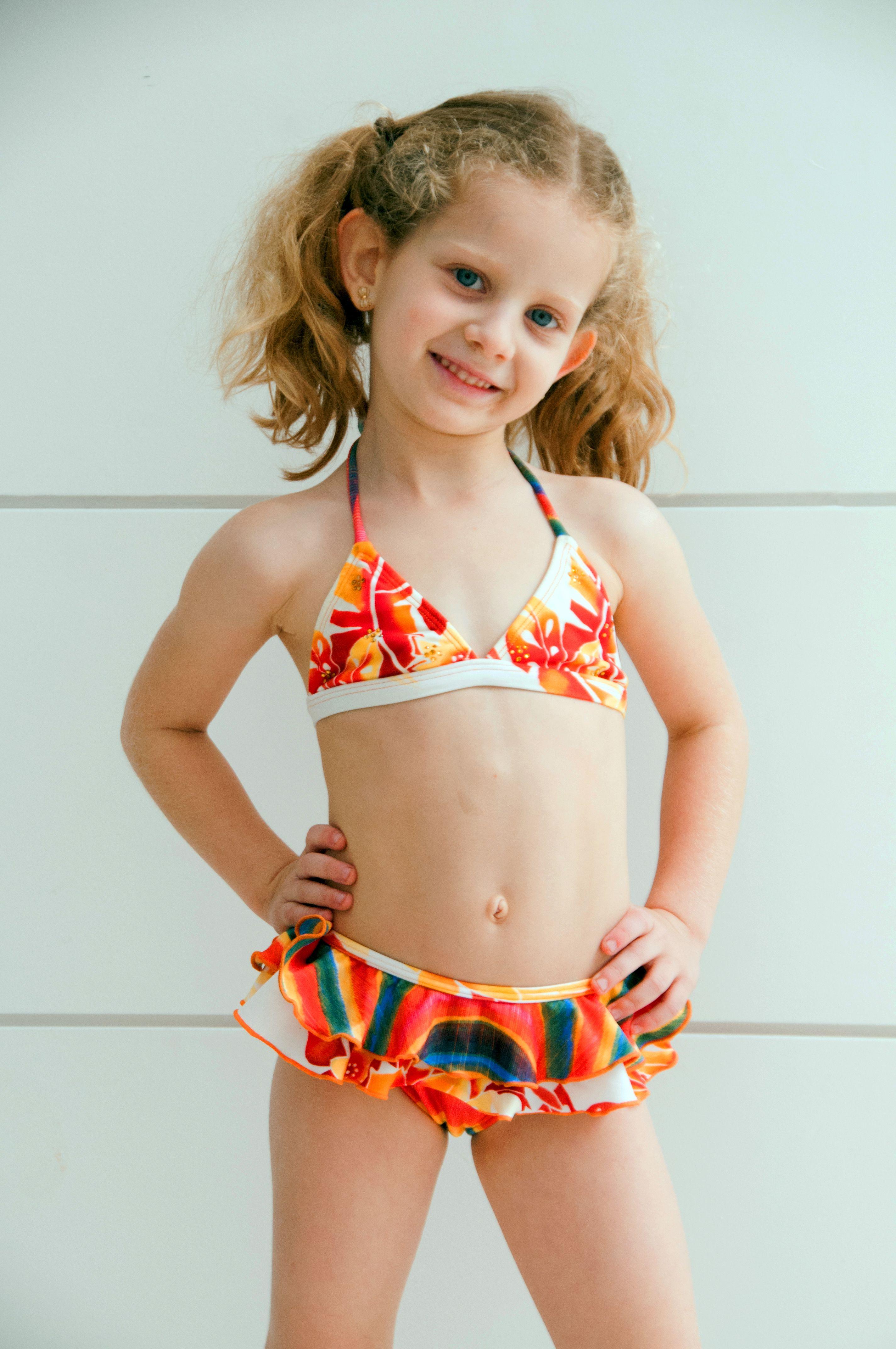 9b97dd0fb1e9e Girls Rainbow bikini - Lemons & Limes Kids Swimwear #kids #girlsbikini