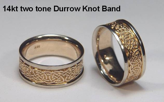 Celtic Durrow Knot Wedding Rings custom celtic wedding rings