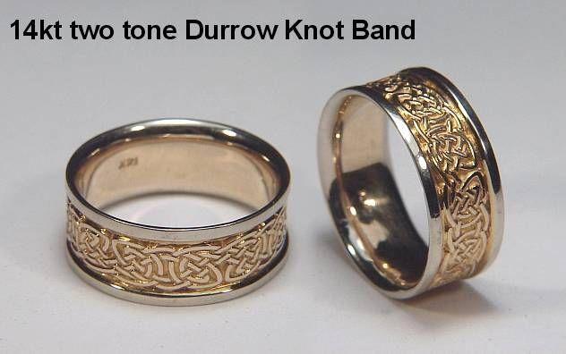Celtic Durrow Knot Wedding Rings custom celtic wedding rings