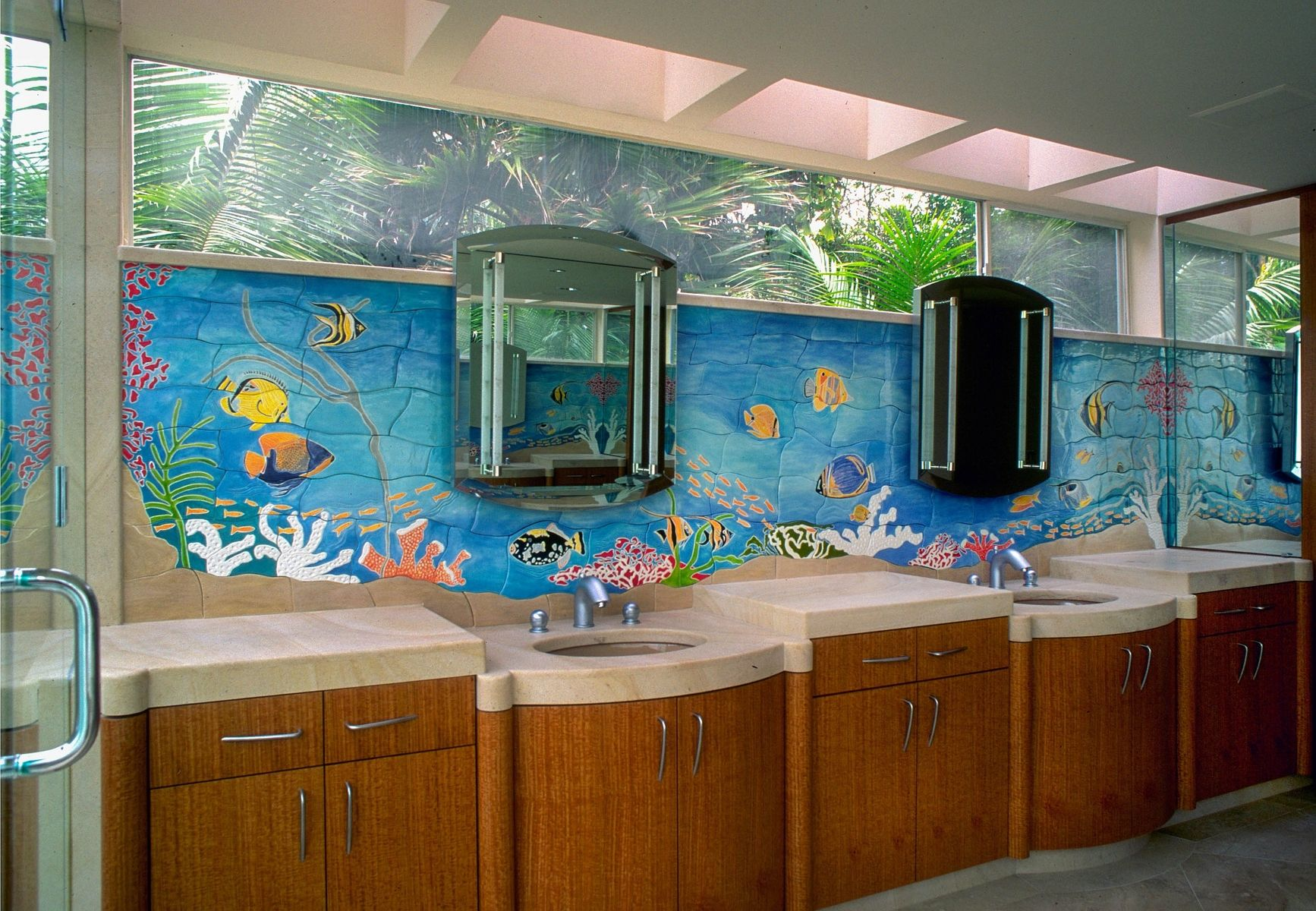 Bathroom Splash Fishing Bathroom Decor Fish Bathroom Tropical Bathroom Tropical fish bathroom decor
