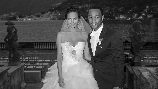 John Legend Wedding Songs.John Legend Chrissy Teigen Wedding Photo Celebrity