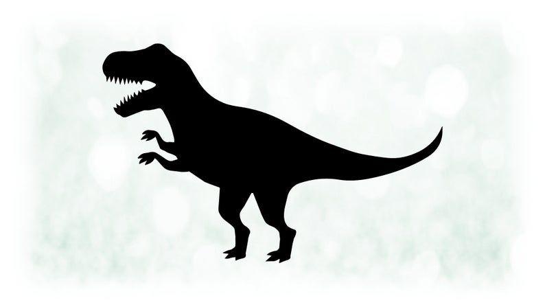Animal Clipart Large Black White Basic Tyrannosaurus Rex Or Etsy In 2021 Animal Clipart Animal Silhouette Tyrannosaurus Rex