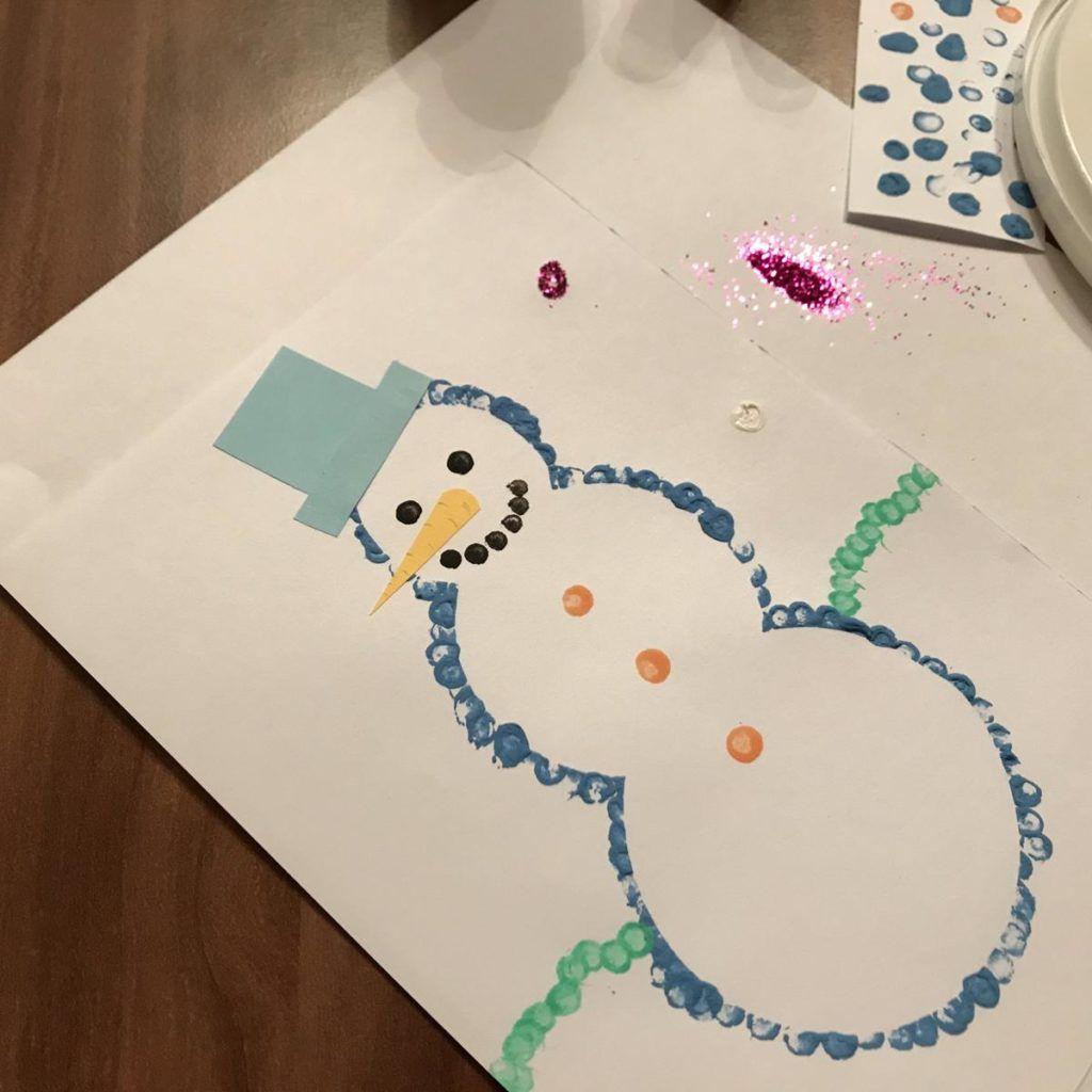 MamaMausBasteln für Kinder   Weihnachtskarten   Schneemann Karte ...