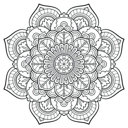 Free Printable Mandala Coloring Pages Detailed Coloring Pages Flower Coloring Pages Mandala Coloring