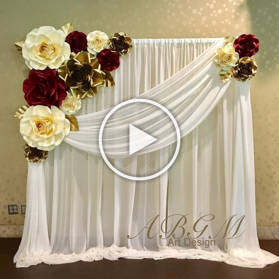 Нет описания фото. Paper flower backdrop wedding, Flower