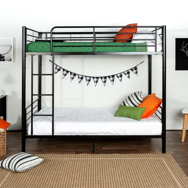Taylor & Olive Abner Black Metal Twin Bunk Bed (Black