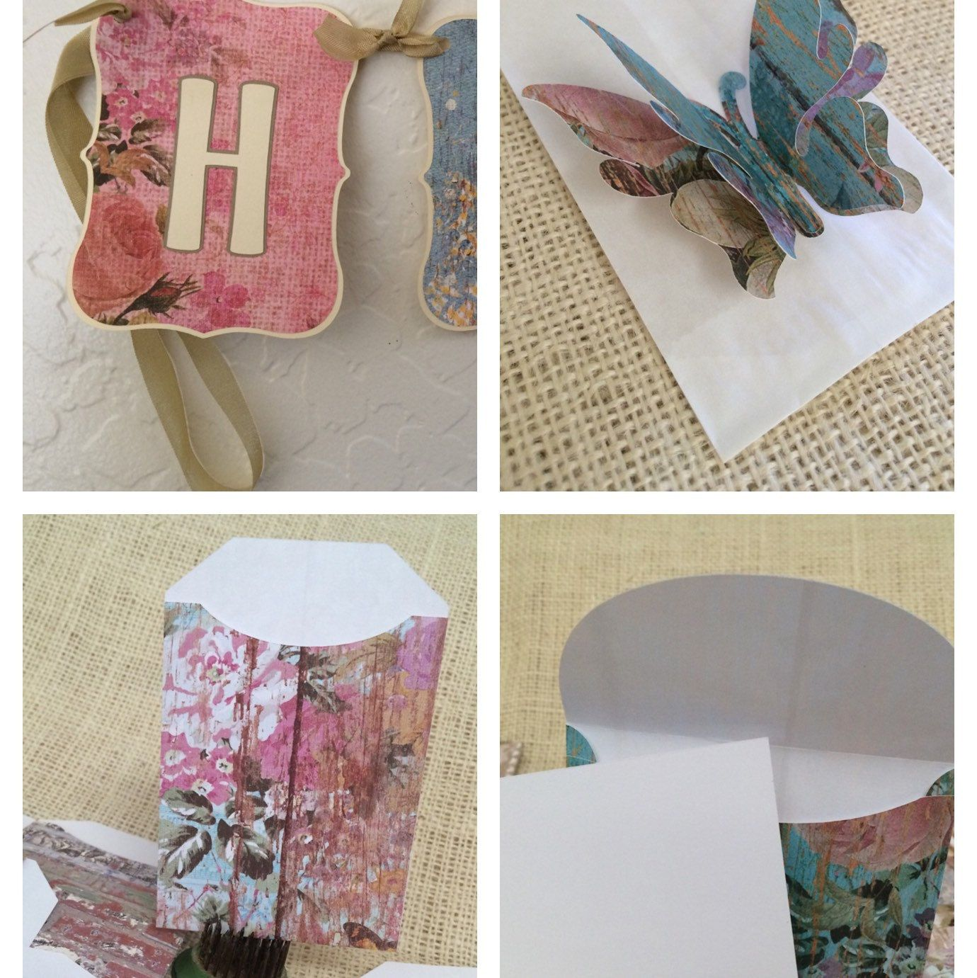 New Farmhouse Garden Patterned Goodies Are In Shop Choose Floating Butterfly Treat Bags Happy