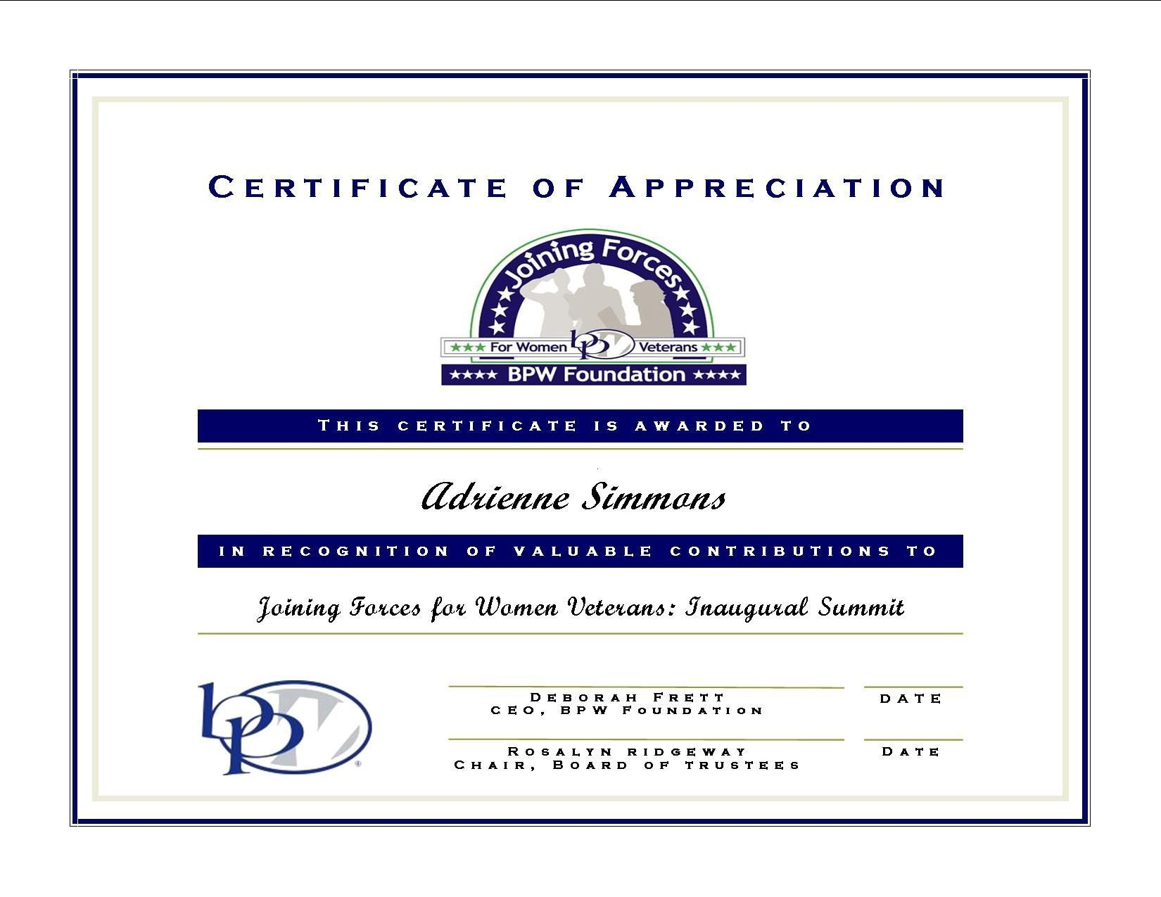 Certificate Of Appreciation For Guest Speaker Template  Cw