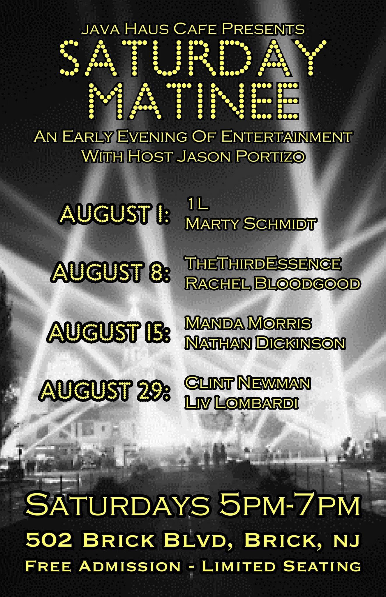 Saturday! August 29th #livemusic #localmusic #BrickNJ #concert  Java Haus Café 502 Brick Boulevard Brick, NJ 732-477-1100