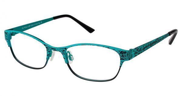 KLiiK 523 Eyeglasses-Black Turquoise