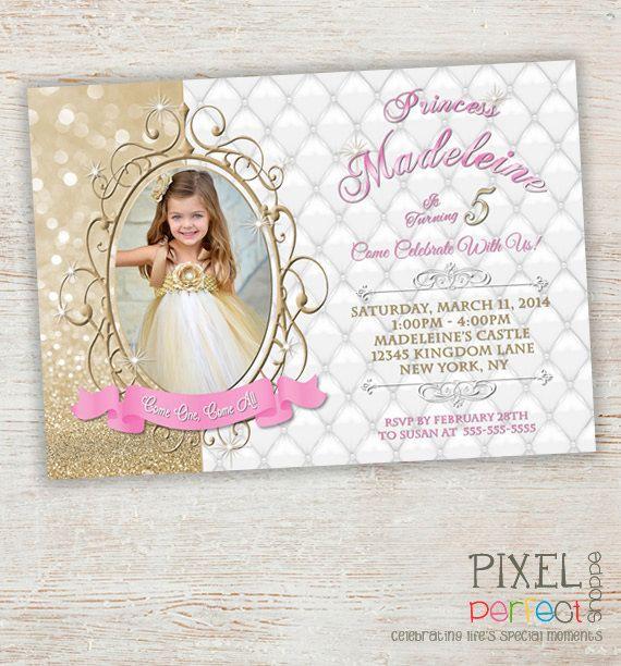 Princess Invitation Princess Birthday Princess Birthday Invitation