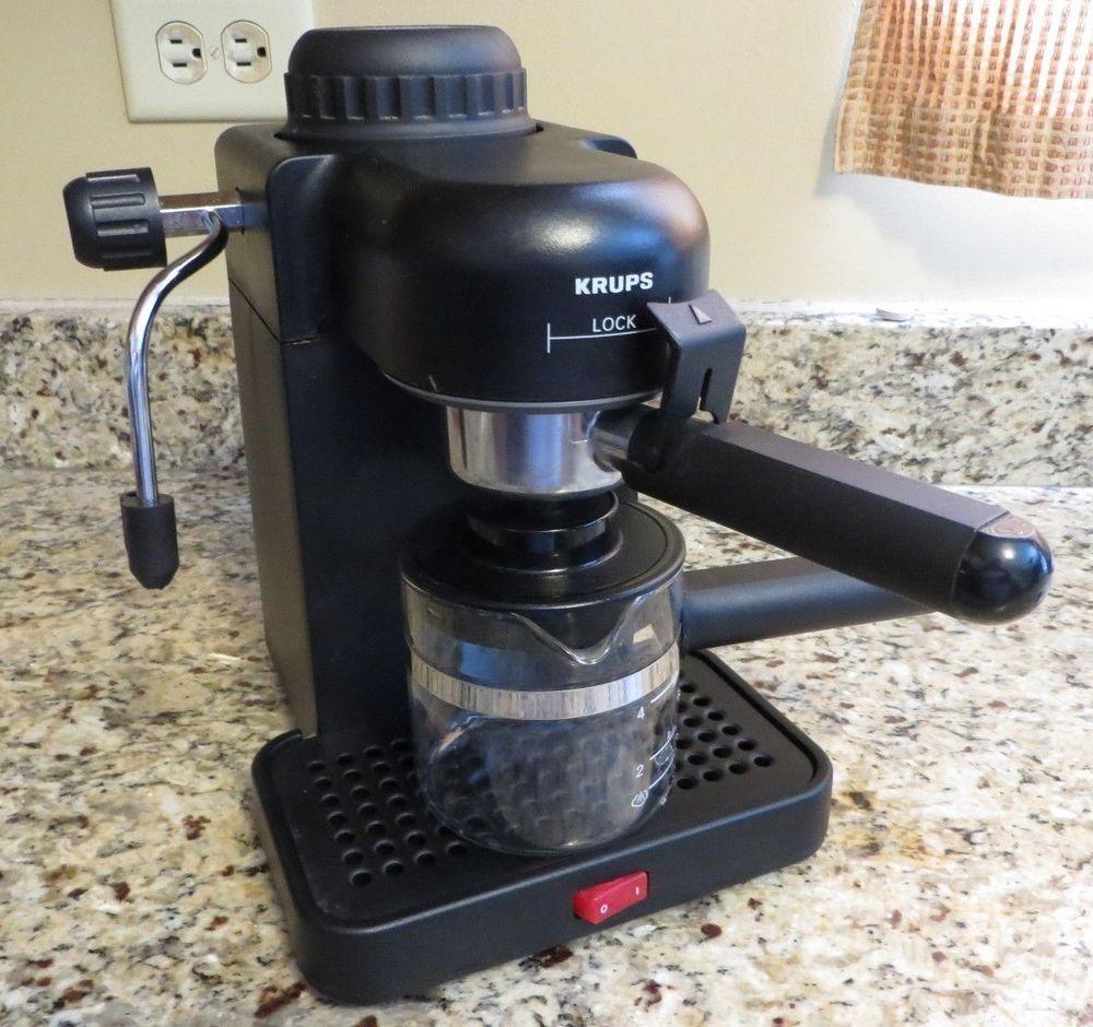 Krups Espresso Mini Machine 963 A Black 4 Cup Cappuccino Maker Krups Espressomachine Cappuccino Maker Krups Cup Maker