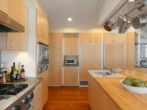 Contemporary Maple Slab Kitchen — Simpson Cabinetry ...