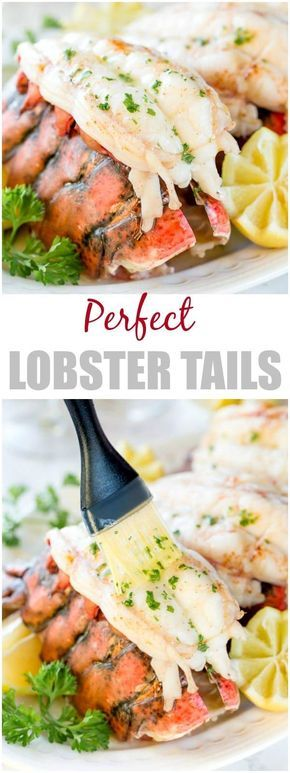 Baked Lobster Tails + Video #lobstertail