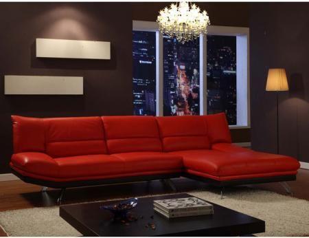 Salas rojo y negro salas y comedores decoracion de for Muebles rojos para sala