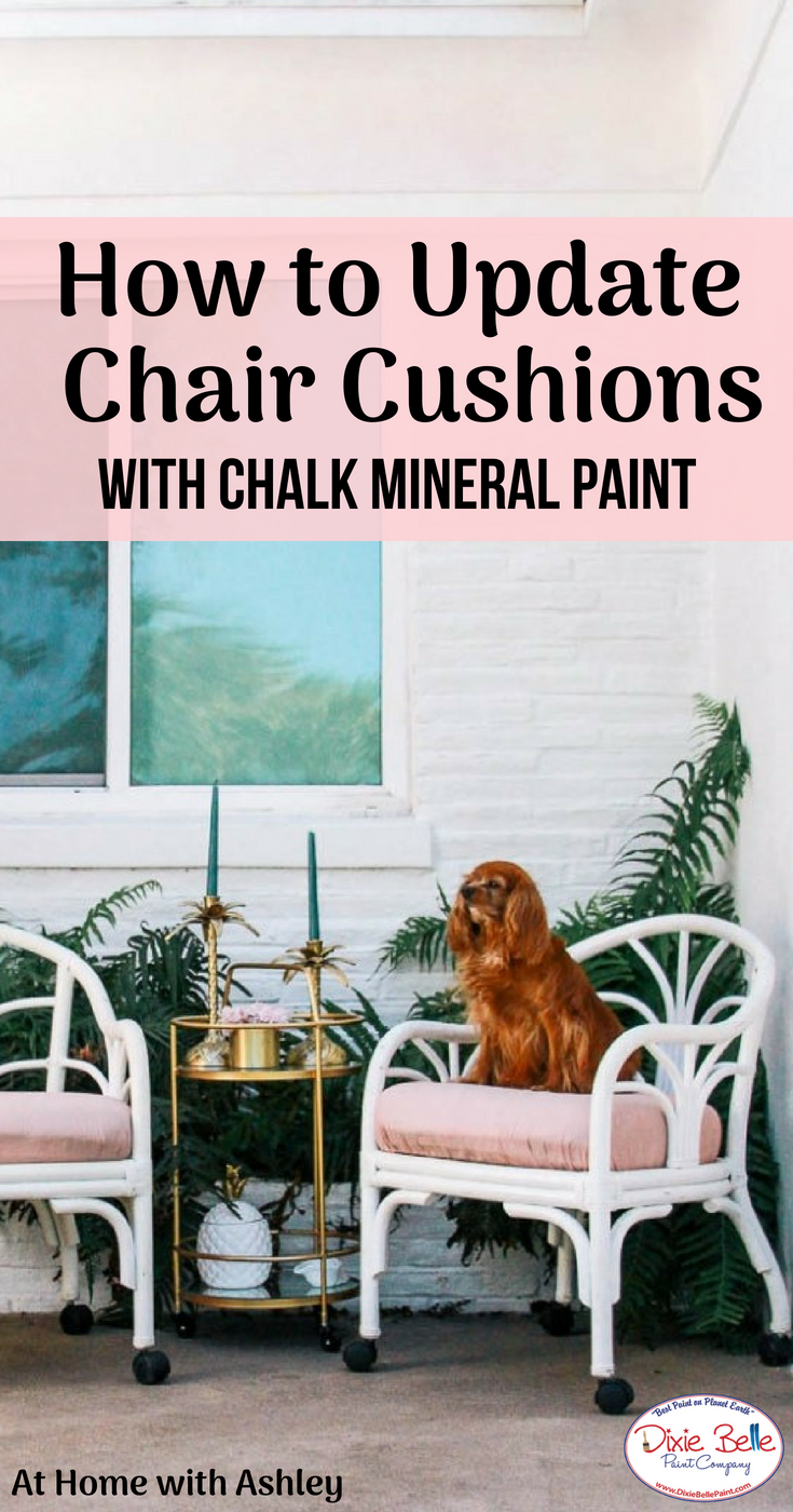 How to Paint Chair Cushions - At Home with Ashley | Blog Posts ...