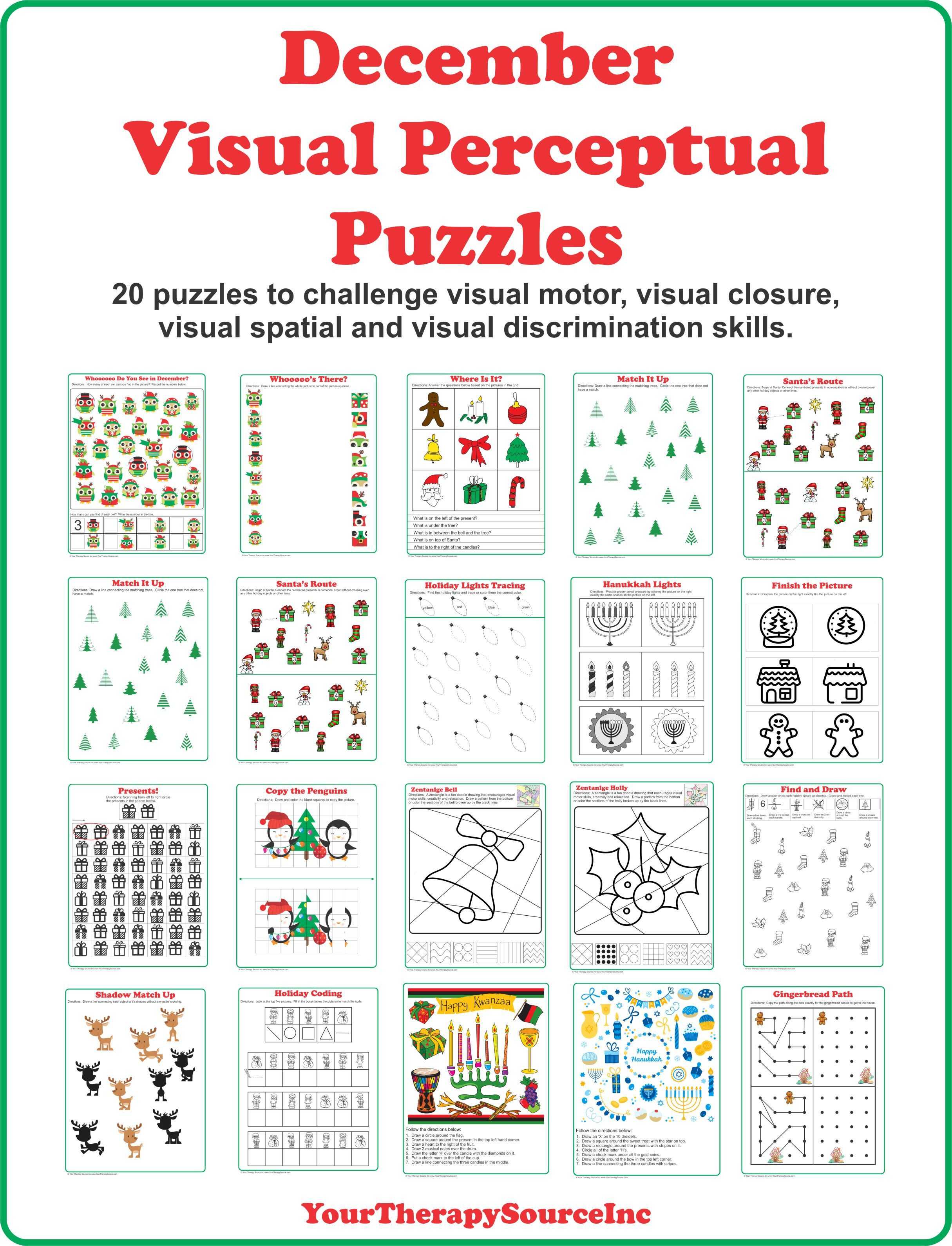 December Visual Perceptual Puzzles With Images