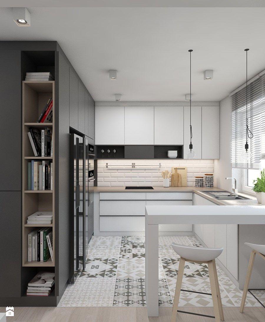 mieszkanie m01 2016 tarnowskie g ry kuchnia styl. Black Bedroom Furniture Sets. Home Design Ideas