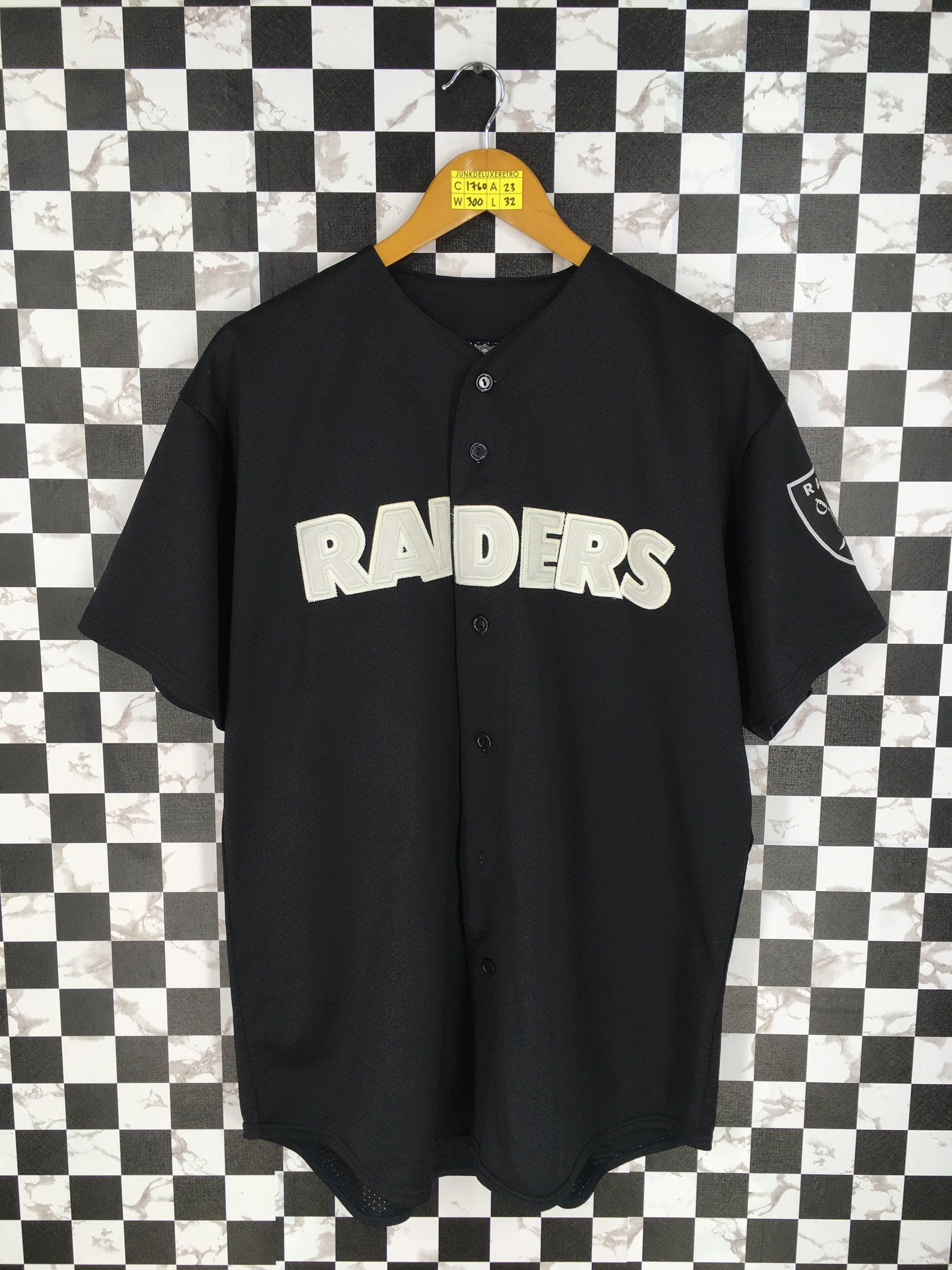 OAKLAND RAIDERS Shirt Button Up Large 80's Vintage Nfl