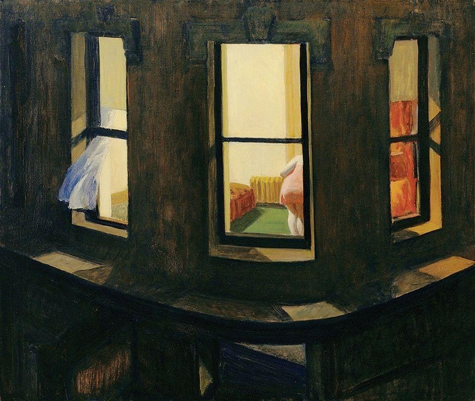 "Edward Hopper. ""Night windows"" 1927"