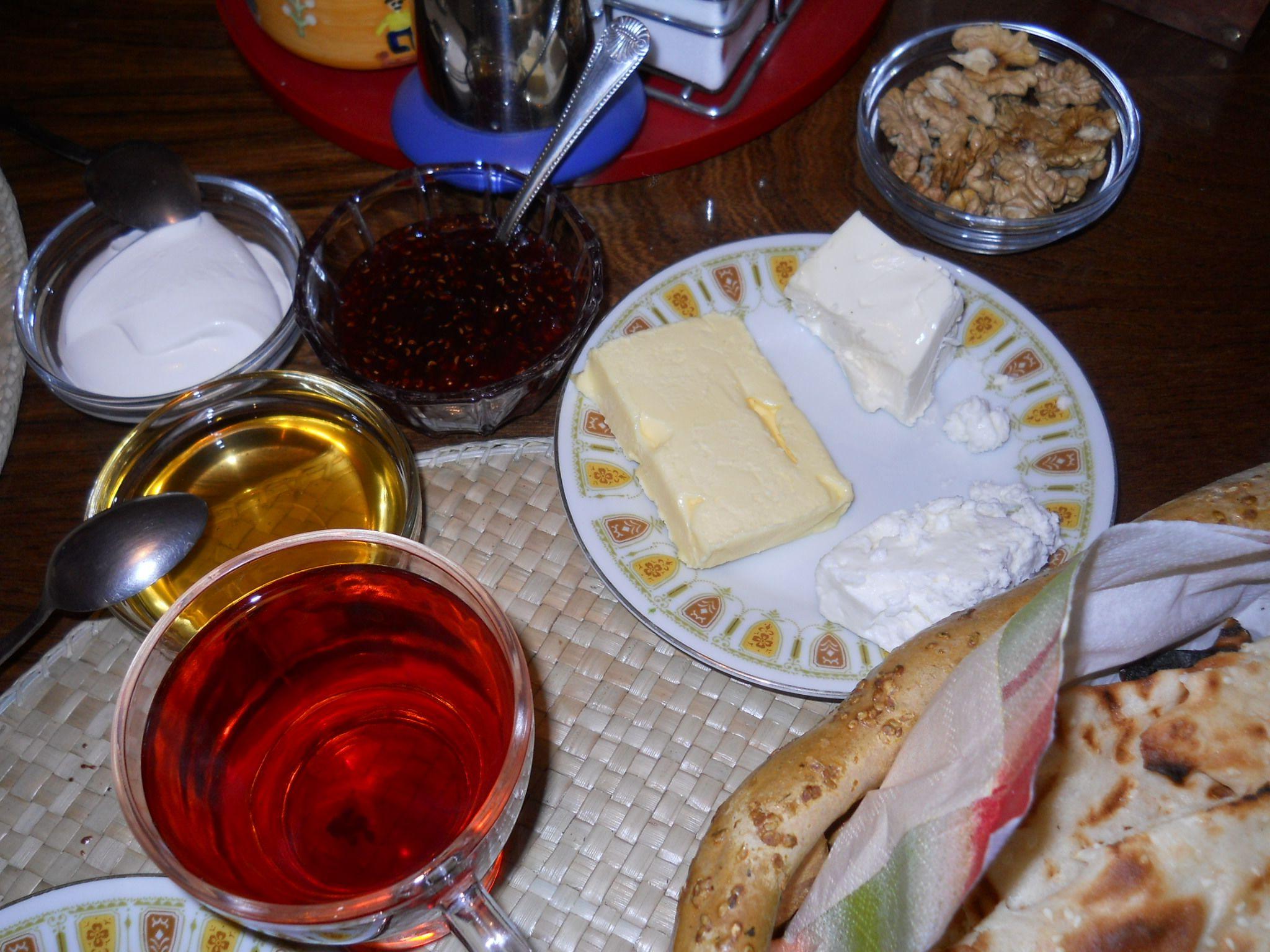 Persian Breakfast table.